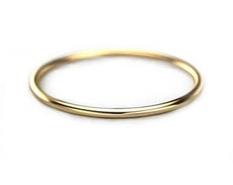 14k solid gold ring,Yellow Gold , Stacking Ring, Thin Ring, thin Wedding Band Ring.