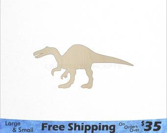 Large Dinosaur Shape - Large & Small - Pick Size - Laser Cut Unfinished Wood Cutout Shapes (SO-0033)