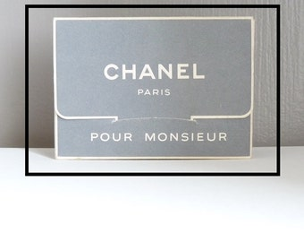 CHANEL - perfume for Mr - metal box - vintage 50s