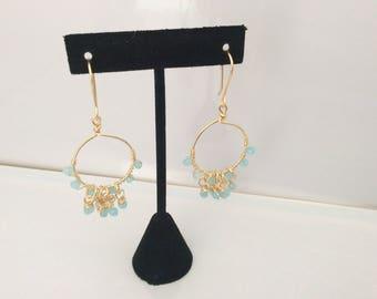 Light blue crystal earrings