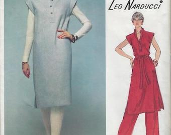 1970s Leo Narducci Vogue American Designer Original Dress 1578 Sewing Pattern Bust 36