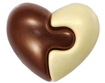 """Chocolate figure""""The heart of a large puzzle""""/Handmade Gift/ New Baby Gift/Baby/children/boy/girl birthday/kids/young children"""