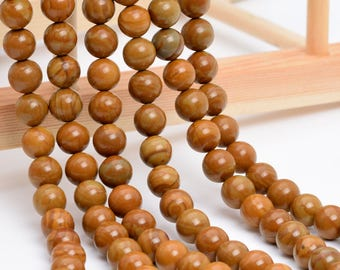 "10MM Brown Picture Jasper Natural Gemstone Full Strand Round Loose Beads 15"" (101155-326)"