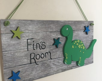 dinosaur bedroom. Personalised dinosaur bedroom sign Dinosaur  Etsy