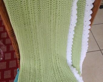 Crochet Baby Blanket- Lime Green