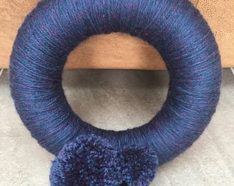 Wool Pom Pom Wreath/Ring