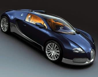 Attirant Bugatti Veyron Grand Sport 24 X 36 Inch Poster