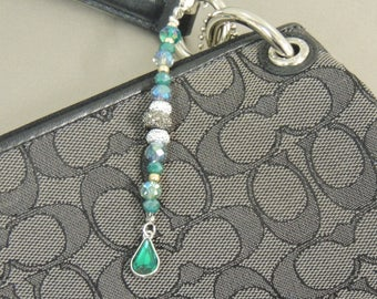 Teal Gemstone Bag Bling/Key Chain