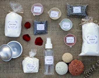 Complete Make your own Bath Bomb Kit with professional mould and natural colours