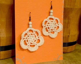 Crochet Pattern - Doily Earrings