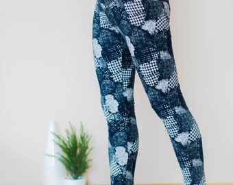 Maternity leggings, pregnancy leggings, over bump leggings, maternity clothing, maternity fashion, black and white print