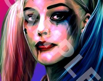 Harley Quinn Digital Print
