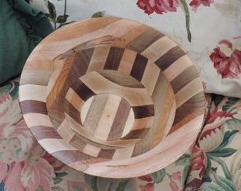 Hand Made Cherry - Mahogany - Maple Bowl