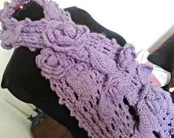 Irish crochet scarf