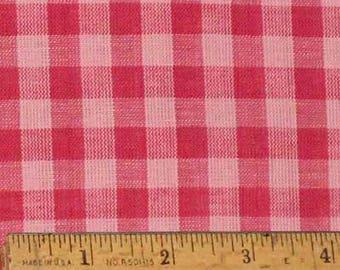 "Pink 5 Homespun Cotton Fabric (Full Yard 36"" x 44"")"