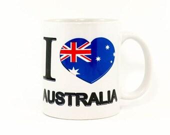 Coffee Mug 11oz  Fun wording   With I Love Australia Perfect Gift Unique design