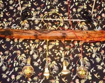 Old wood chandelier