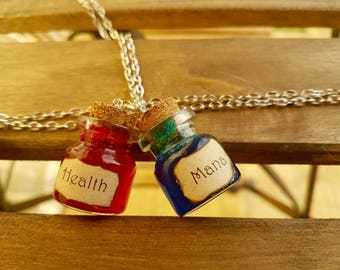 Health & Mana Potions NECKLACE