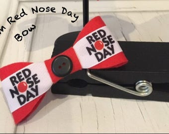 Medium Red Nose Bow