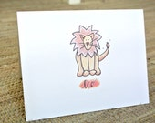 Personalized Lion Stationery - Set of 25