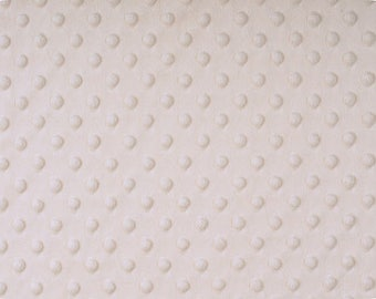 Ivory Dimple Dot Minky, Off White Minky Dot, Shannon Minky Fabric, Fabric by the Yard