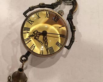 Steampunk Brass Watch Ball Necklace