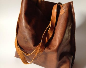 leather shoulder bag - leather bag - leather handbag - leather shopper - leather bags women - leather tote - leather tote bag - yoga bag
