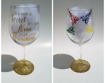 Order of the Eastern Star Wine Glass