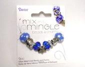 European Beads | European Charms | Pandora Style Charms | Lampwork Beads | Blue Glass Beads | Beach Charms | Sea Shell Beads | Large Hole