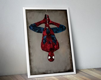 Superhero Spiderman Poster / Avengers Poster / Spiderman Print / Superhero Poster / Marvel Spiderman Poster /