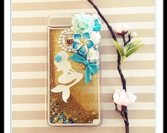 Kawaii iphone 7 plus case bling kitty cabochons charm rhinestone decoden
