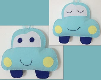 Baby boy door hanger, Asleep / Awake Door Hanger, Baby decor Door knob hanger
