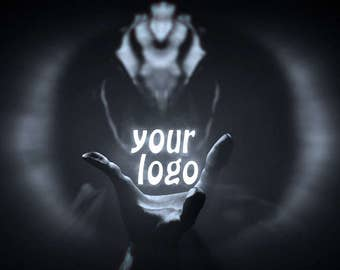 End screen video intro or outro, the hand of alien, logo