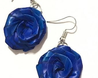 Mexican handmade Straw Flower Earrings