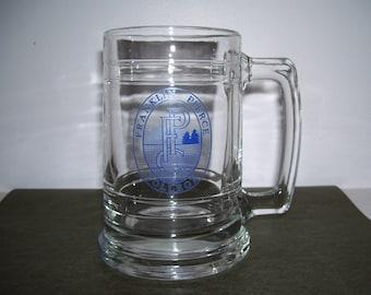 Vintage glass mug Franklin Pierce College 1985