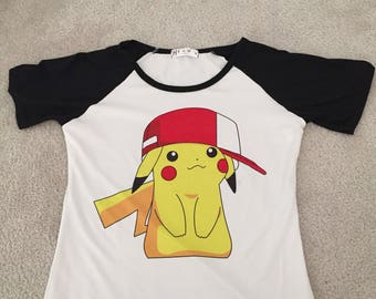 Pikachu pokemon womans tshirt small