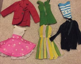 Vintage barbie skipper and ken clothing lot