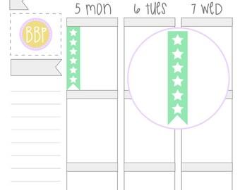 Multicolour 6 Star Checklist Stickers (002)