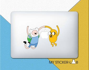Finn and Jake Adventure Time MacBook Decal Adventure Time MacBook Sticker Adventure Time Sticker Adventure Time Finn and Jake Decal cmac200