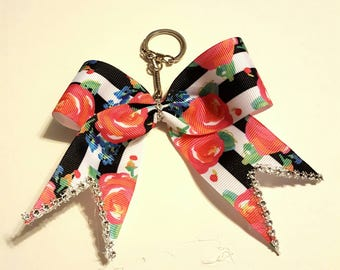 Cheer bow keychain