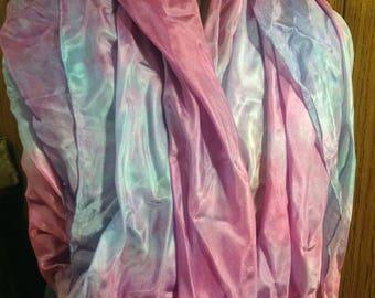 Hand-Dyed Rectangular Silk Bellydance Veil - Lavender Clouds