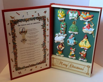 The Twelve Days of Christmas Music Box Book Box Set of Ornaments