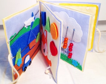 Quiet book, busy book, activity book, soft book, sensory toy for kids, children, toddlers aged 1,5-3