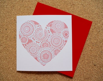 Love Heart - Square Greeting Card - 141mm x 141mm