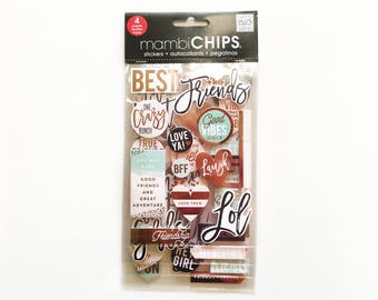 Friendship Dimensional Stickers for Scrapbooking / Journals / Planners
