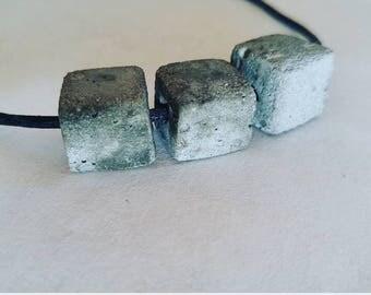 Concrete cube / trio / simple jewelry / elegant / gift / unique / modern