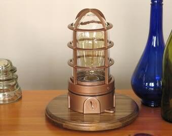 Explosion Proof Lamp – Vapor Proof Lamp – Steampunk – Table Lamp – Desk Lamp – Industrial – Edison Lamp – Edison Light, Rustic Lamp, Copper