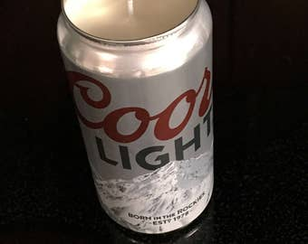 Recycled beer candle