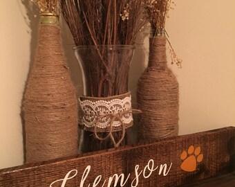 Clemson wooden sign