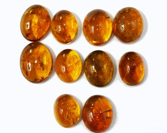 Halloween Sale -AAA Quality Natural Orange Tourmaline Cabochon / 8x10-10x12 / Loose Gemstone